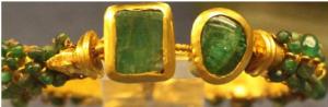 bracelet or et émeraudes benaki museum